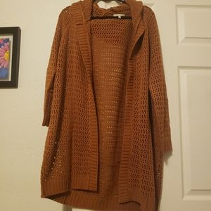 Brownish gold cardigan